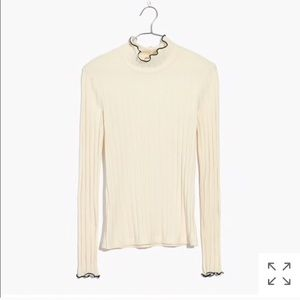 Madewell stretchy ribbed ivory turtleneck NWOT